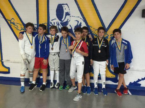 Andrew Mufel - Gold, Peter Kambeseles - Silver, Ethan Kushnerik - Bronze Y14 NYFA Youth#1