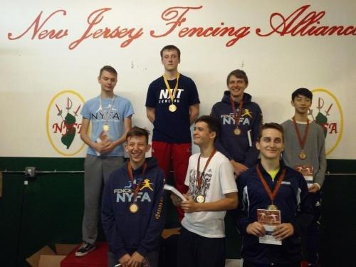 Anton Chmut 2nd, Anton Dutchak 3rd, Nathan Vaysberg 5th, Alan Temiryaev 6th in Div1A NJFA ROC