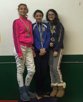 Nadia G. Bronze Y12, 5th Y14; Katherine Y. 5th Y12Arevik A. Silver Y12, 6th Y14 NJFA RYC 2016