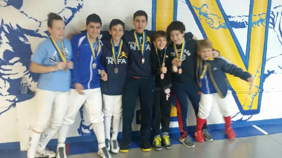 NYFA Youth#4 Y14 medalists