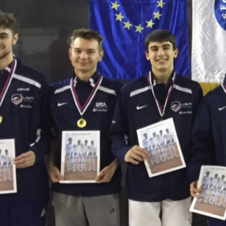 Anton Chmut with Gold medal Team USA at Bratislava