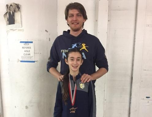 Emily Ostrovsky Bronze Y12 w/Coach Anton Dutchak