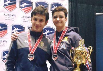 Coach Mokretsov with Alan Temiryaev