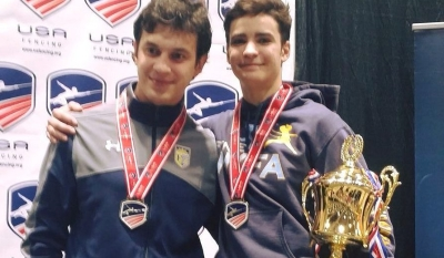alan-temiryaev-right-with-coach-misha-mokretsov-temiryaev-wins-junior-olympic-national-championship-in-junior-mens-epee-pc-new-york-fencing-academy