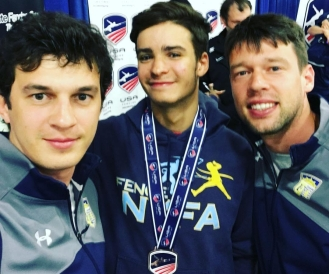 Alan Temiryaev Bronze Junior 2017 Summer Nationals with Coaches Mokretsov, Ponomarenko