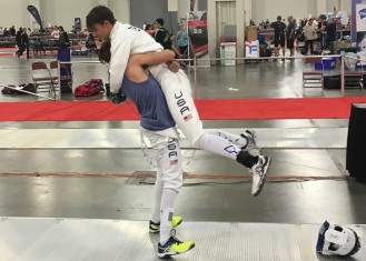 Alan Temiryaev lifted by teammate Nathan Vaysberg Div I 2017 SN 1