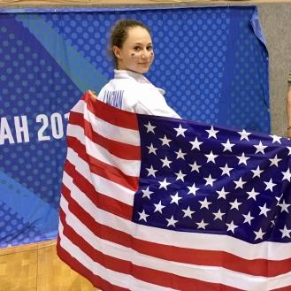 Anna Lanzman Team Silver at Maccabiah 2017