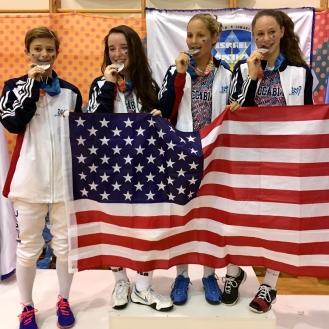 Anna Lanzman Silver Team USA at Maccabiah 2017
