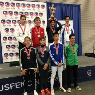 Ethan Kushnerik 7th Y14 podium