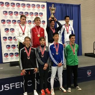 Ethan Kushnerik 7th Y14 podium