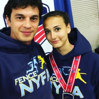Nadia Gaberkorn 6th Y12 2017 SN with Coach Mokretsov