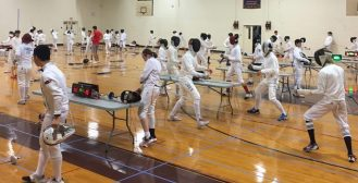 Over 100 epee fencers at our sleep-away camps