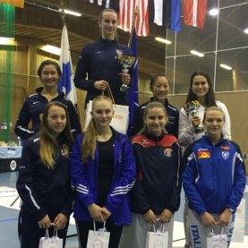 Jaclyn Khrol 5th at Cadet World Cup Espoo