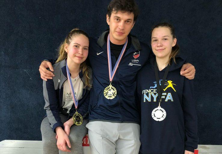 Anna Temiryaev 1st Caralina Khrol 2nd Y14 Coach Mokretsov Mission SYC 2018