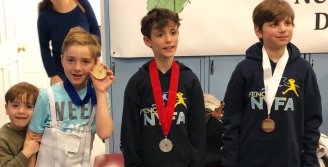 Sweep! Dylan Kats - Gold, Julian Brodsky - Silver, Ethan Zaydman - Bronze Denise O'Connor RYC