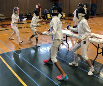 NYFA Summer Camp doubles fencing