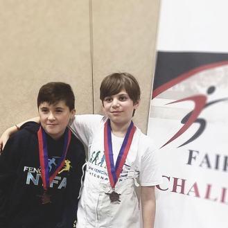 Landon Shchur bronze Ethan Zaydman 8th Y10 Fairfax SYC