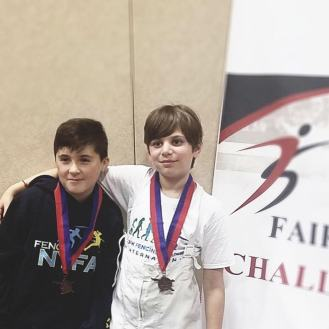 Landon Shchur bronze Ethan Zaydman 8th Y10 Fairfax SYC