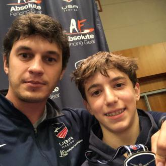 Mitchel Bekker Silver Div II with Coach Misha