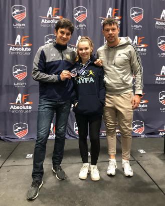 Caralina Khrol 3rd Y14 Coach Mokretsov and Ponomarenko Nov NAC 2018
