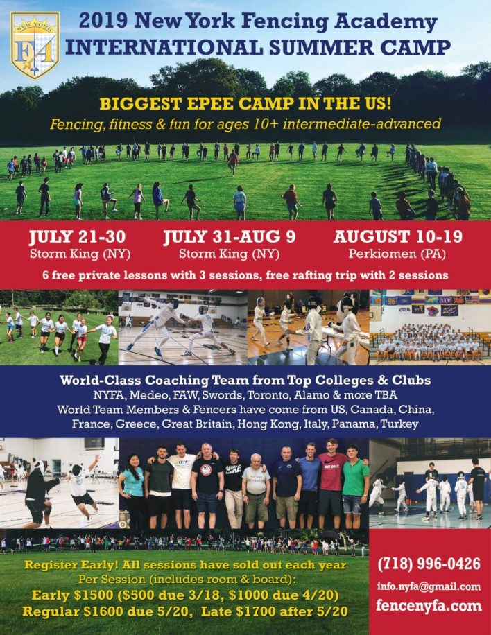 NYFA International Summer Fencing Camps