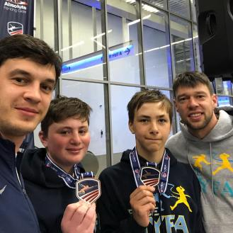 Shawn Agaon 6th Max Burovsky 8th Y12 March NAC 2019