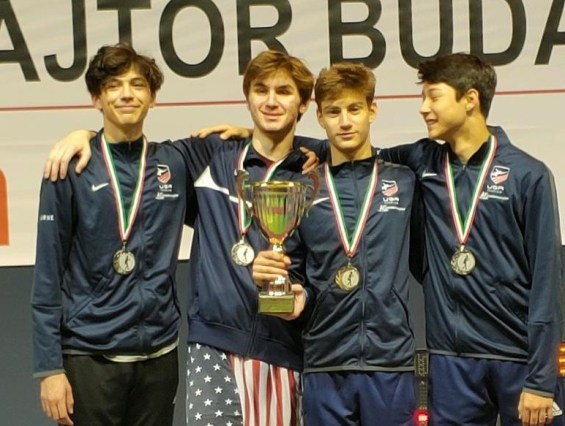 Skyler Liverant 2nd from right Team Silver Cadet World Cup Budapest