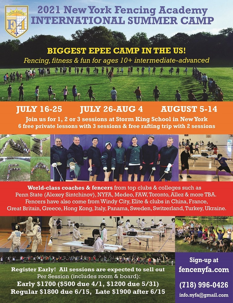 NYFA Summer Sleep away Fencing Camps